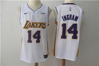 09d250857 Nike Lakers  14 Brandon Ingram White Authentic Stitched NBA Jersey ...