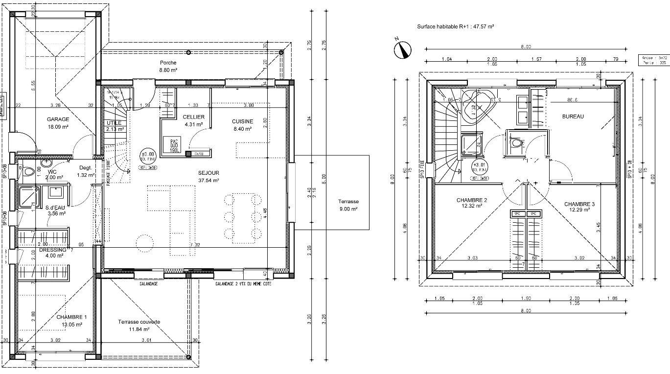 Votre avis sur le plan de ma maison 120 m2 avec tage 22 for Plan de maison de 120m2 avec garage