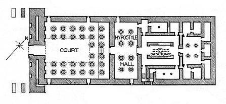 Khonsu Temple Floor Plan Architecture History Egyptian