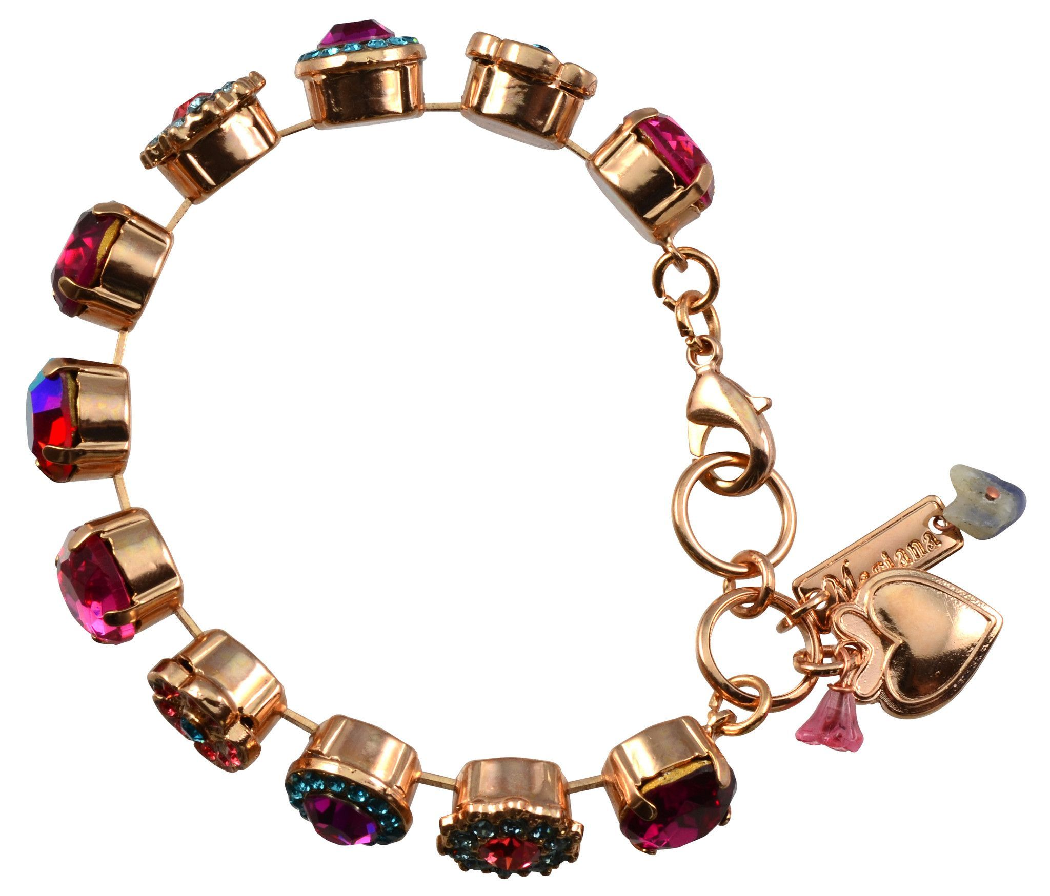 Mariana sorbet rose gold plated swarovski crystal large gem tennis