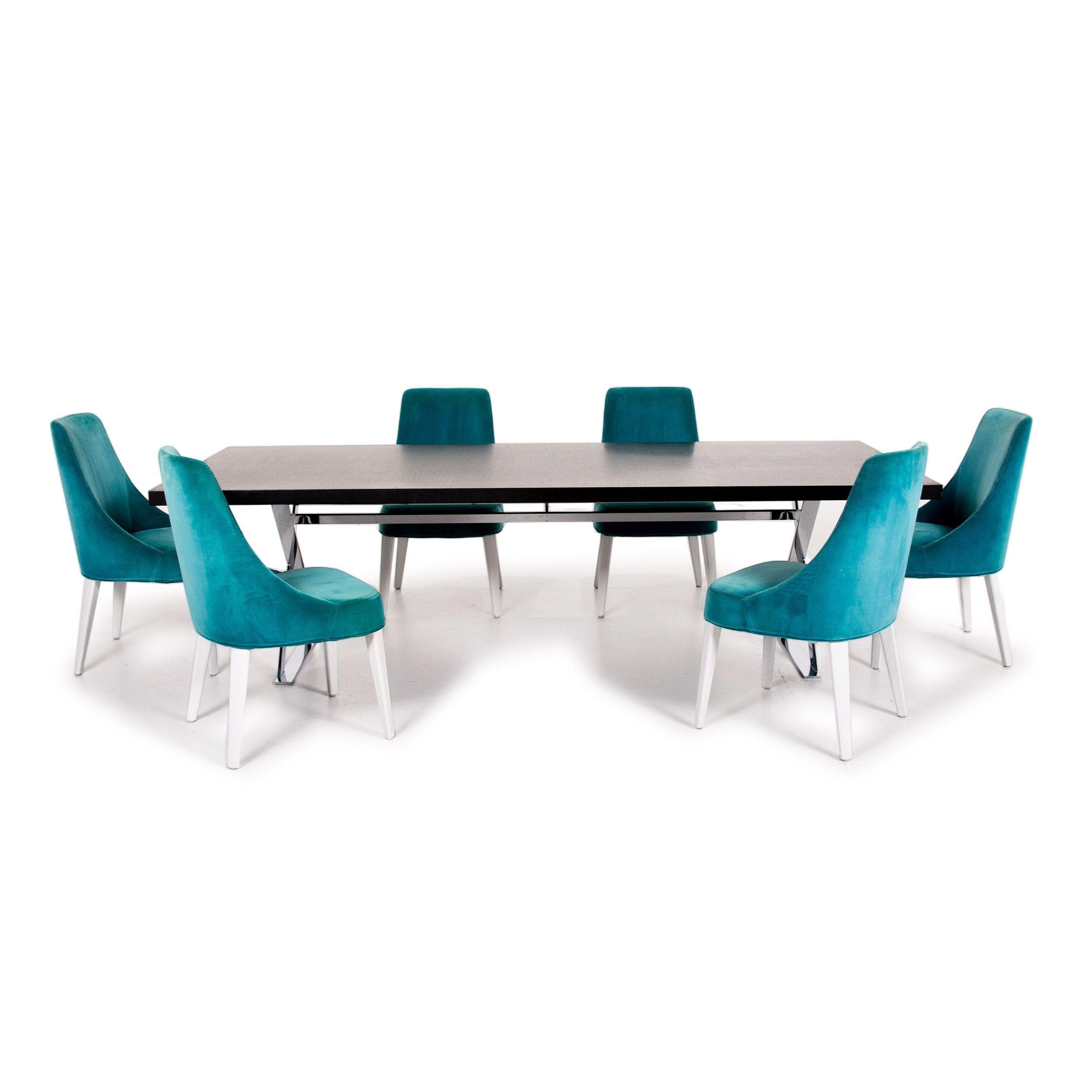 Maxalto By B B Italia Max Holz Esstisch Garnitur Schwarz Tisch Stuhl Samt Holz Metall 14218 In 2020 Esstisch Modern Wohnzimmertische Wohnung Einrichten Tipps