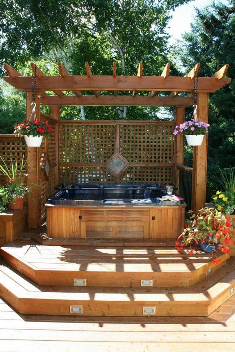 11 Beautiful Outdoor Hot Tub Privacy Ideas Hot Tub Landscaping