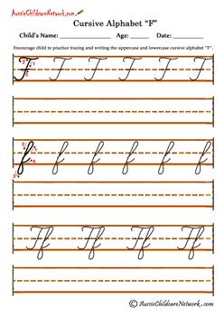 Cursive Alphabet Letters To Trace F F Ecriture Cursive Alphabet
