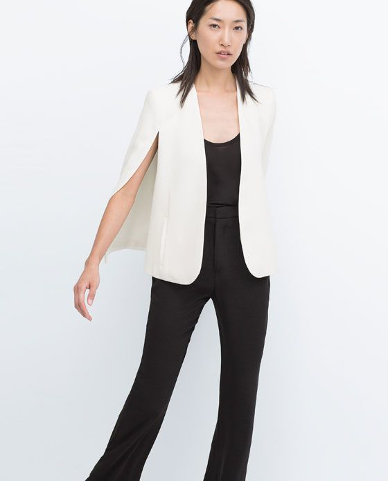 zara new this week cape jacket style pinterest cape zara women and blazers. Black Bedroom Furniture Sets. Home Design Ideas