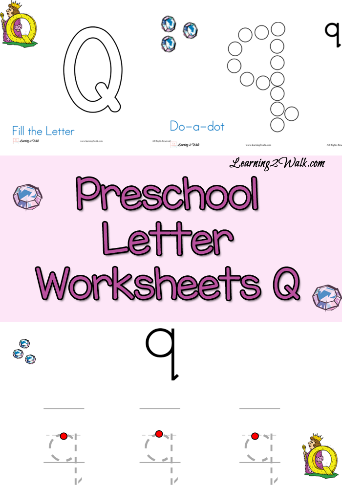 Q is for Queen Preschool Letter Worksheets Q Letter
