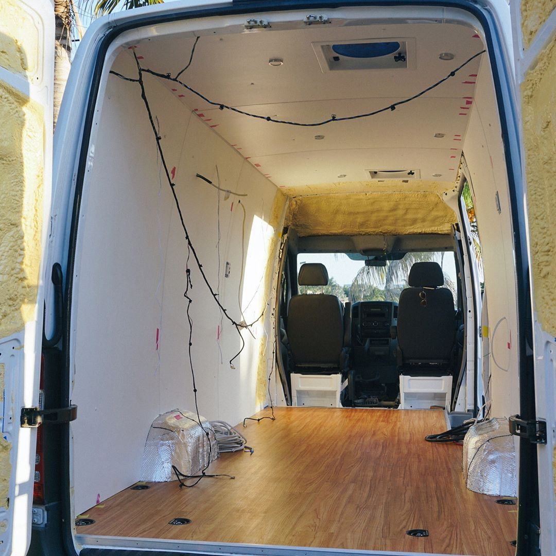 Joe Devon Vanlife On Instagram We Had An Epic Fail When We Drilled A Ceiling Panel Up And The Lights Were In The Wrong Ceiling Panels Van Life Lights