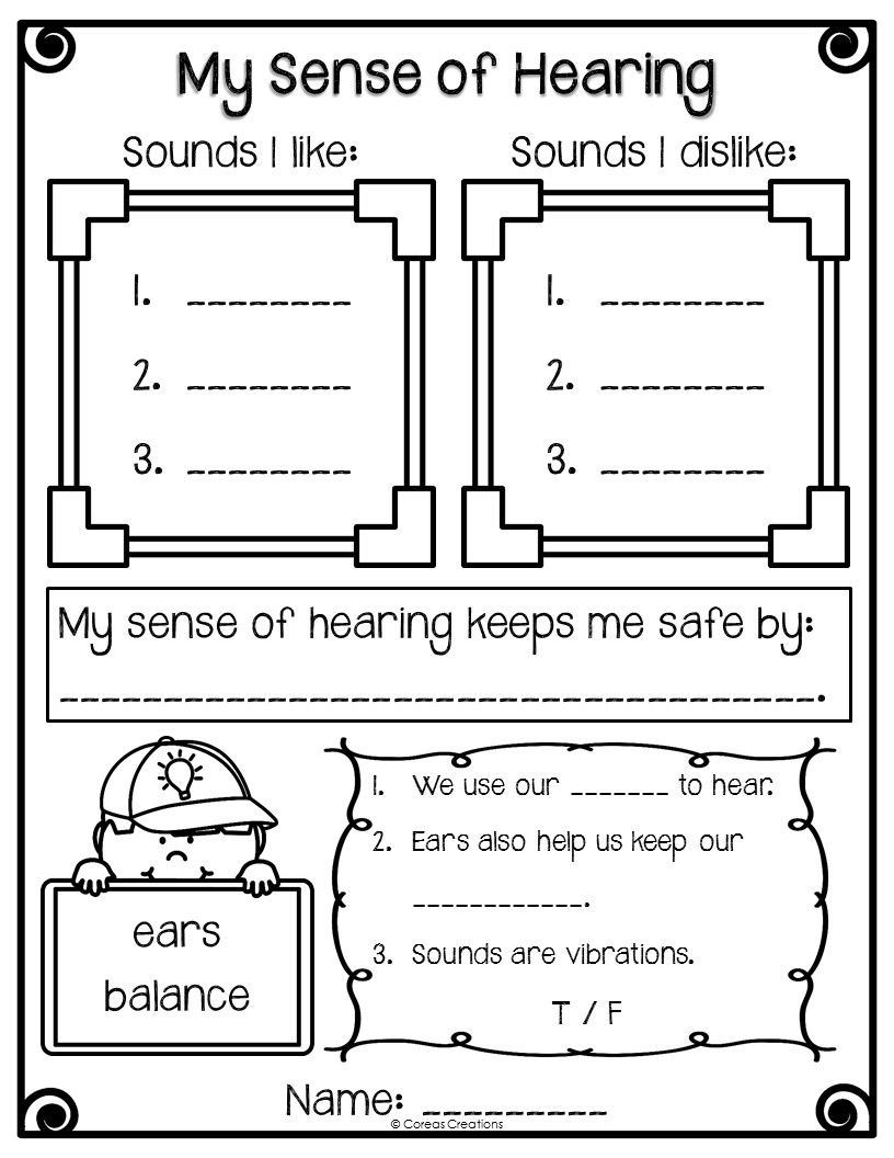 worksheet The Ear Hearing And Balance Worksheet a short and sweet blog post about this great freebie to go along free sense of hearing worksheet alberta curriculum