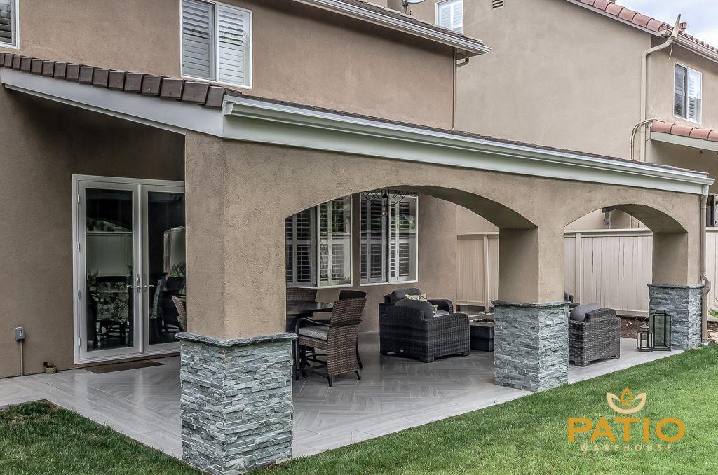 Patio Warehouse Inc. custom designed & built this outdoor living ...