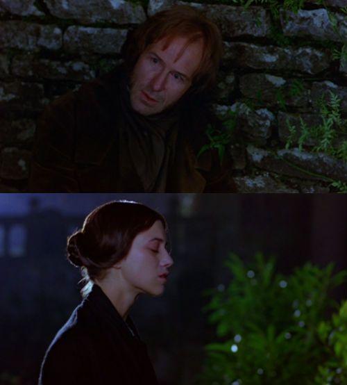 William Hurt (Mr. Edward Rochester) & Charlotte Gainsbourg (Jane Eyre) - Jane Eyre directed by Franco Zeffirelli (1996)  #charlottebronte #fanart