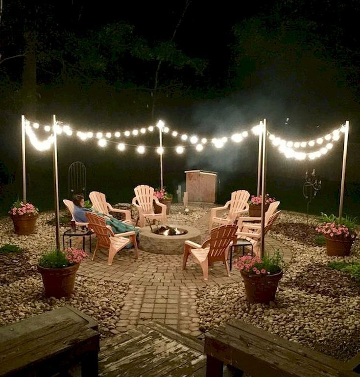 60 kreative Hinterhof-Feuerstelle-Ideen #backyardmakeover