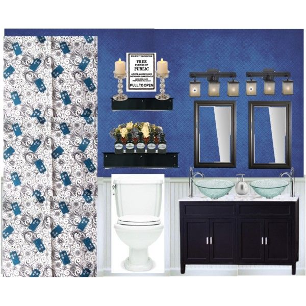 Doctor Who TARDIS Bathroom  TARDIS  Doctor who bathroom Doctor who tardis Geek home decor