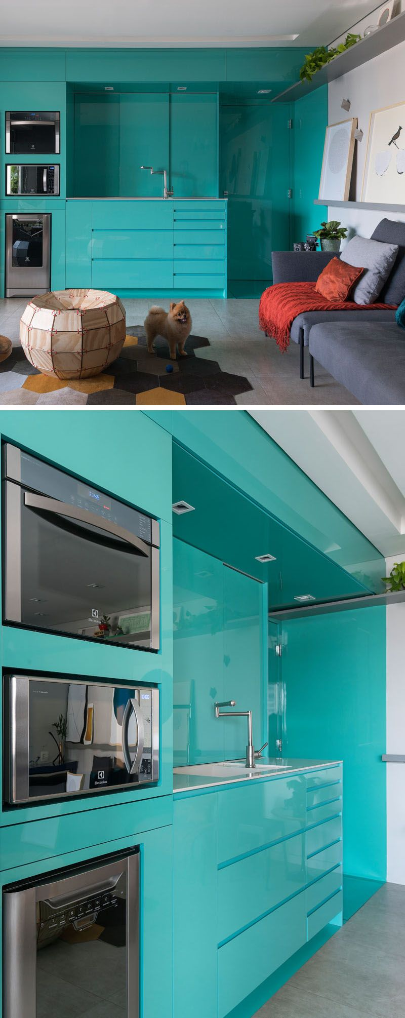Before & After - A New Bright Blue Kitchen For This Small Apartment ...