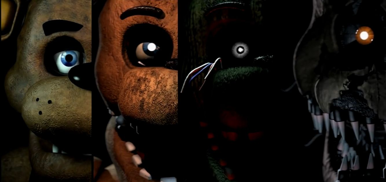 Freddy Fazbear, Withered Freddy, Phantom Freddy, Nightmare Freddy