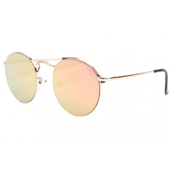 4c03877dce4332 Lunettes de soleil rondes rose doré Sunny marque Spirit of Sun, lunette de  soleil miroir