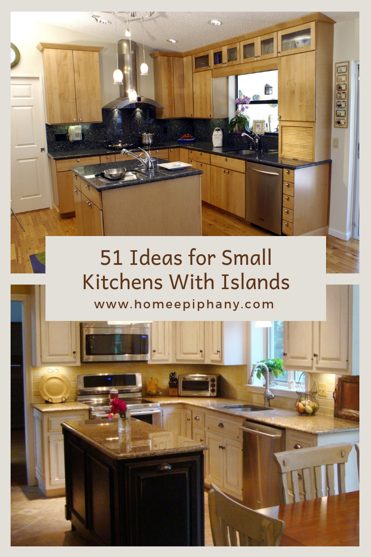 51 Small Kitchen With Islands Designs Small Kitchen Island