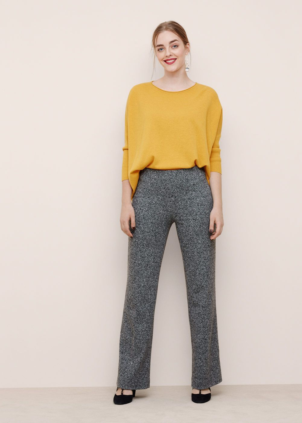 Pantalón algodón jaspeado - Tallas grandes   Paño ...