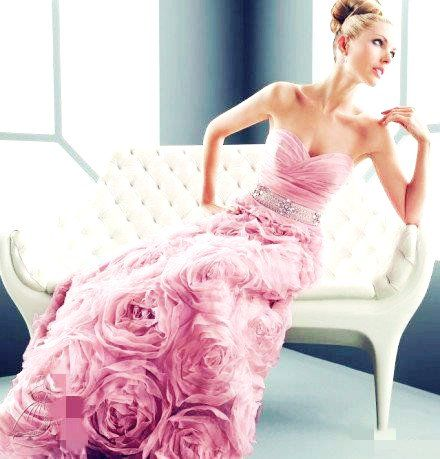 Pink Wedding Dress...or perfect cut up for an accent wall
