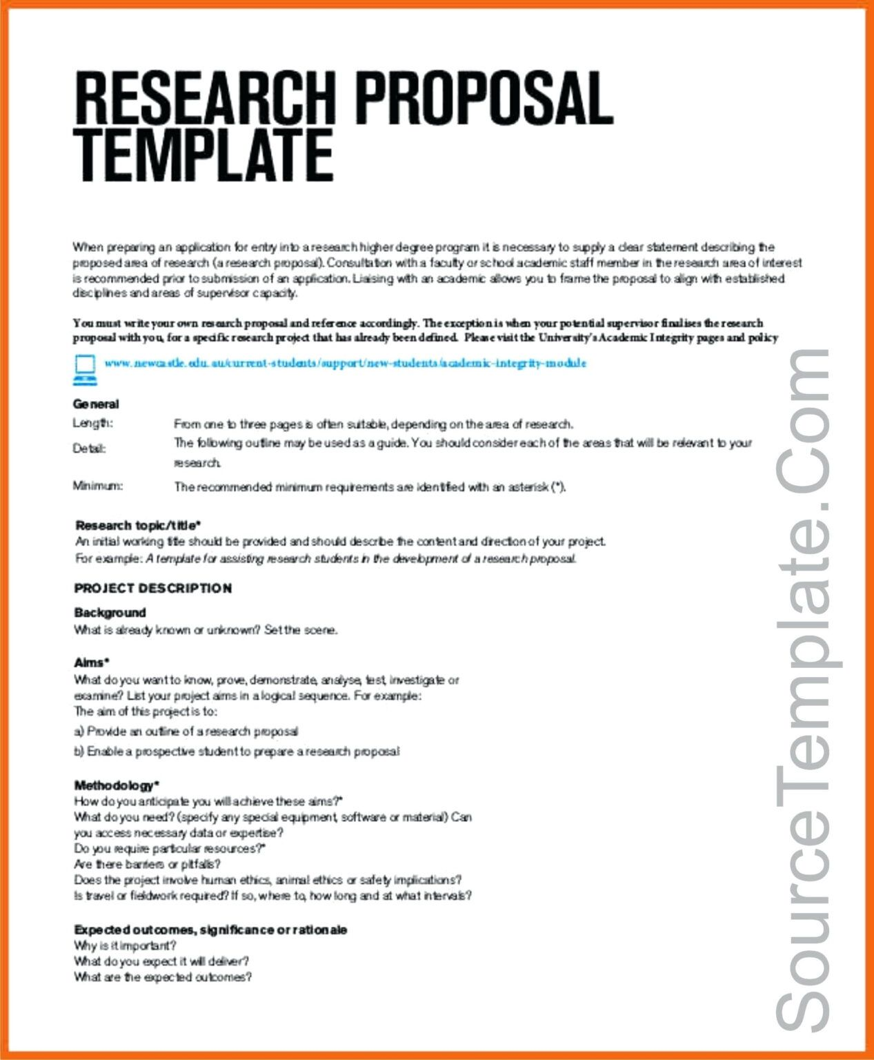 Research Project Proposal Template Pdf Outline Example Ceolpub Throughout Software Proje Project Proposal Template Project Proposal Example Research Proposal