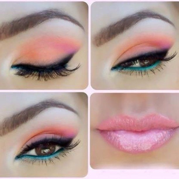 Sweet summer colors makeup