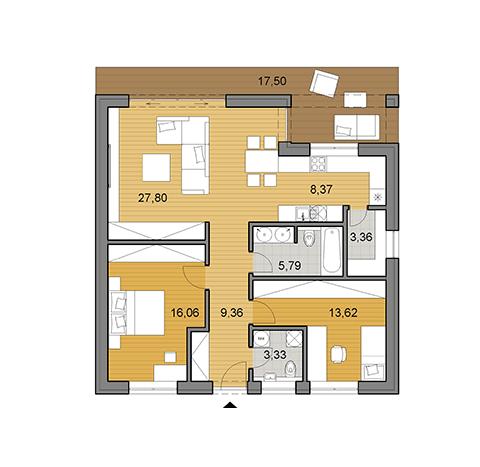 Résultats de recherche d'images pour « plan de maison 8m x 8m » | Plan de maison gratuit, Maison