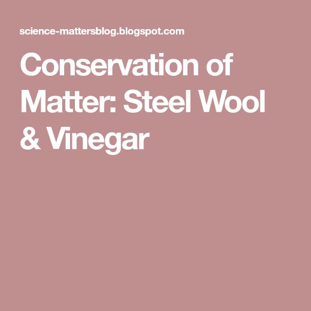 Chemical Makeup Of Steel Wool