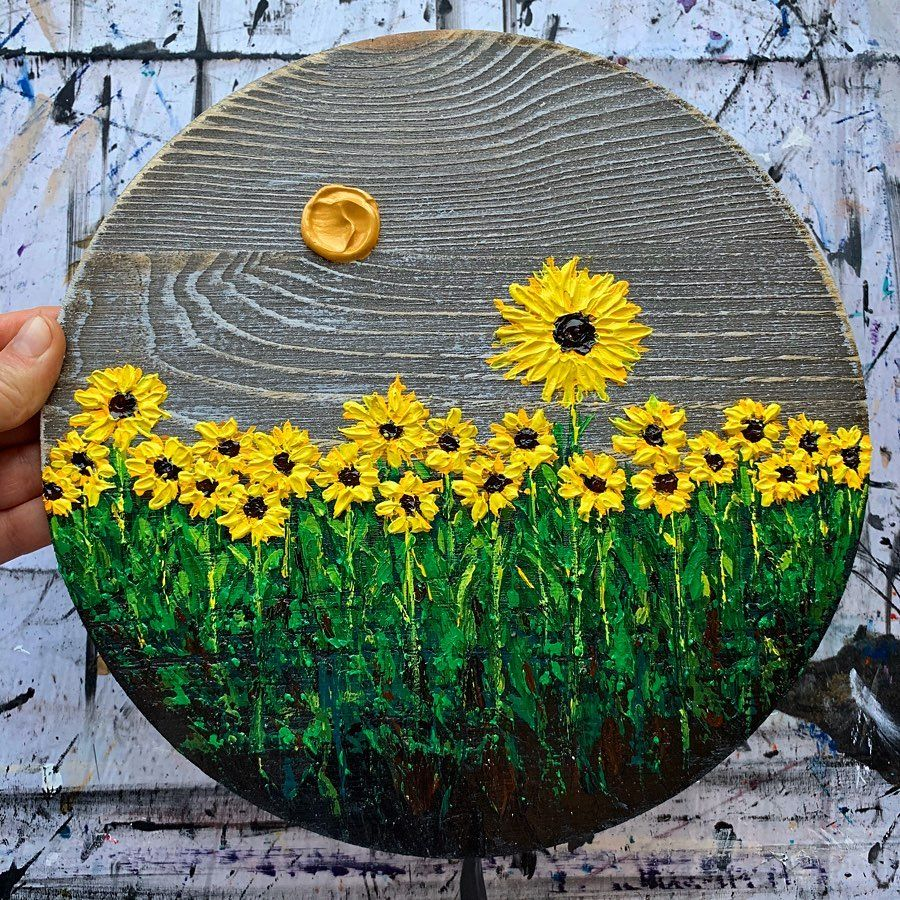50 easy textured flowers canvas painting ideas for