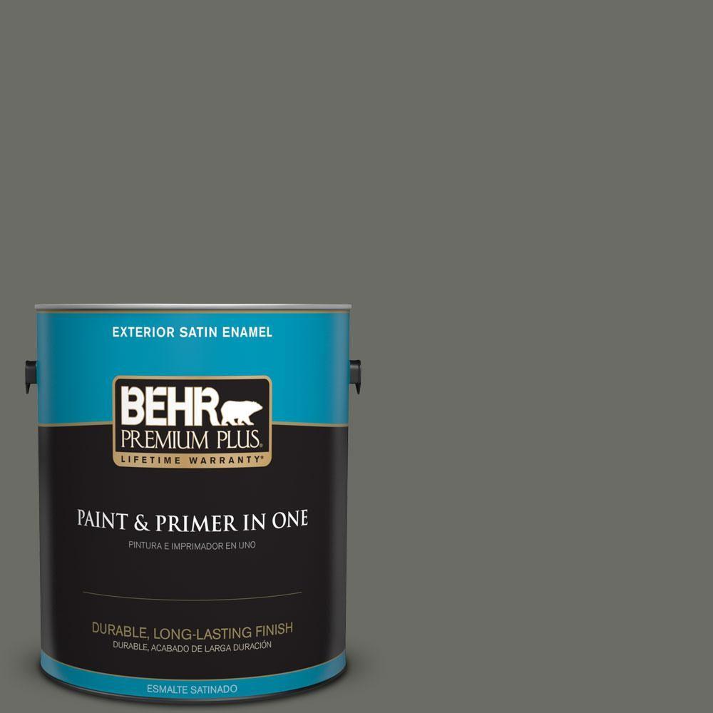 BEHR Premium Plus 1-gal. #N380-6 Bonsai Trunk Satin Enamel Exterior Paint