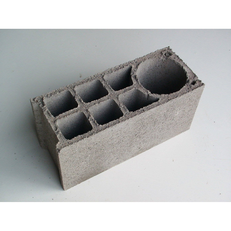 Parpaing A Bancher Beton Nf P 25 X H 50 X Ep 20 Cm Parpaing A Bancher Parpaing Et Beton