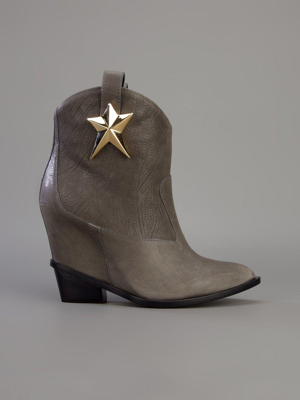 Giuseppe Zanotti Design - star motif cowboy boot 7