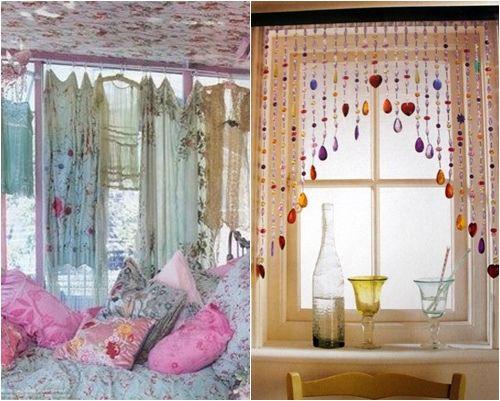 Ideas para decorar ventanas (o cómo hacer cortinas con pañuelos ...