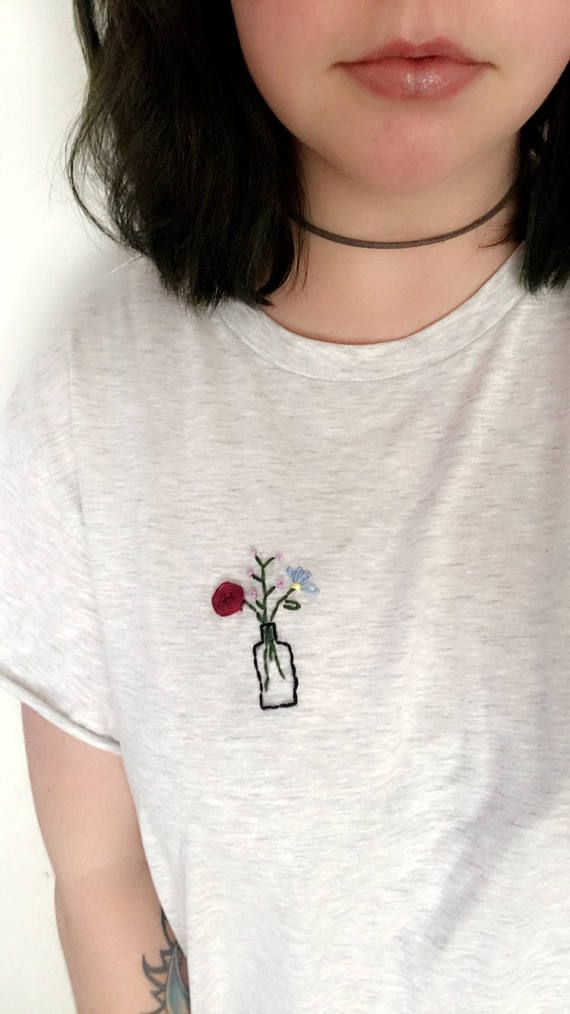 Embroidered Flower Bouquet Shirt