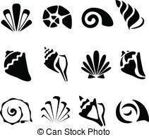 Shellfish Clipart Simple Black And White Google Search Black