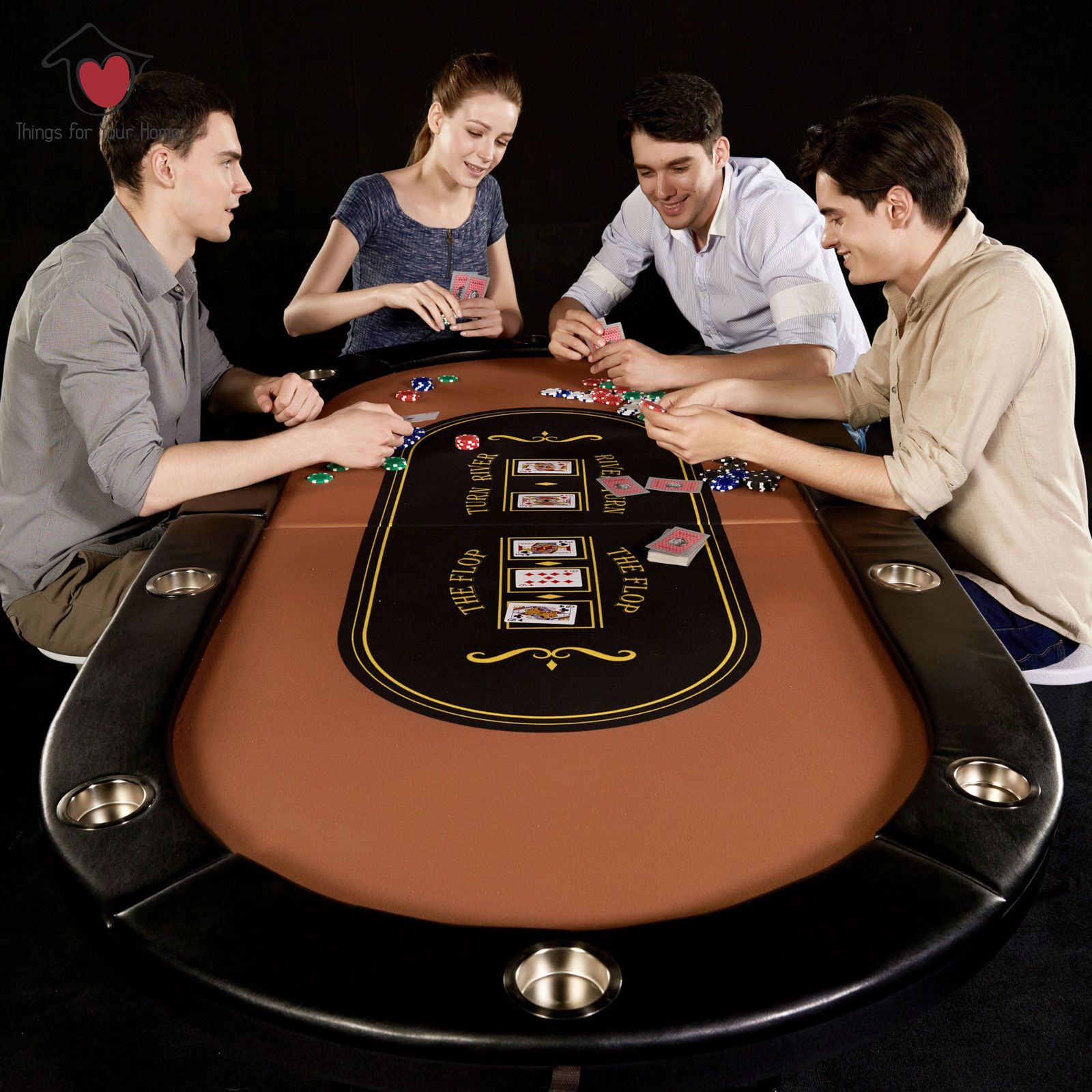 Poker Table Folding Portable Steel Cup Holders 10 Players Foldable Cushioned Best Pricing Free Shipping High Quality Pok Poker Table Poker Play Table