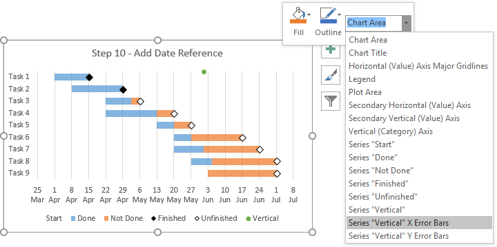 Gantt charts in excel tutorial from jon peltier use for scheduling and also rh pinterest