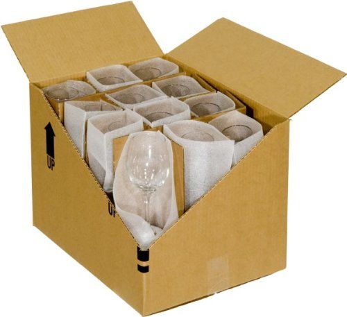 Amazon Com Ecobox Glass Stemware Packing Partition Kit Pack Of 2