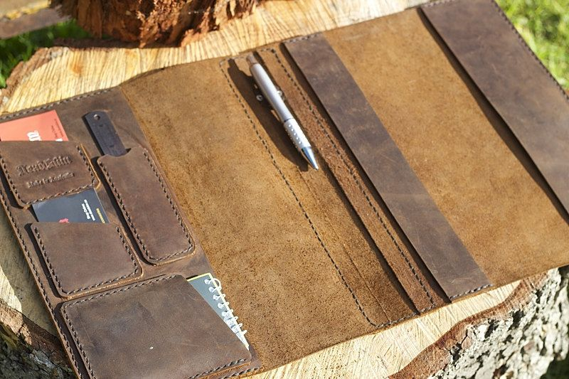 log book cover brown leather truck manual cover leathercraft