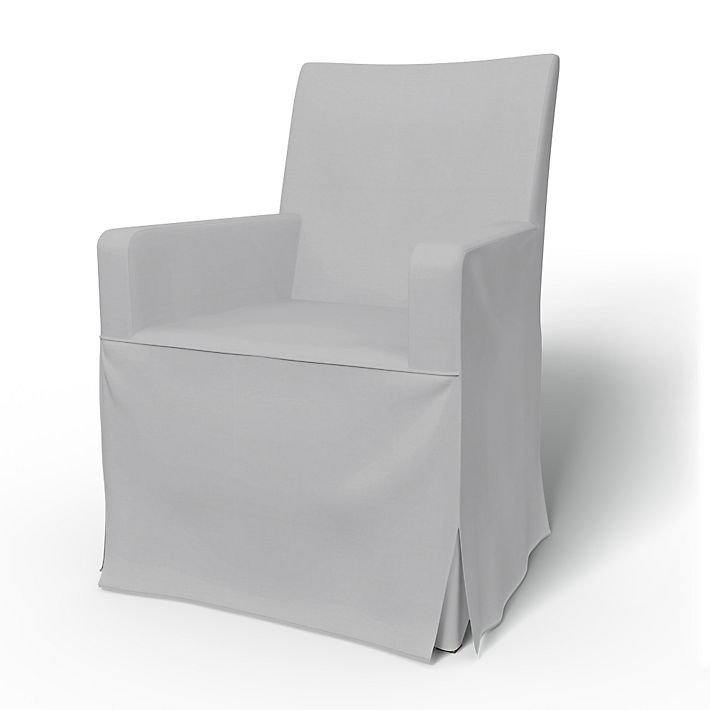Henriksdal, Chair Covers, Armchair, Regular, Long Skirt, Box Pleats Using  The