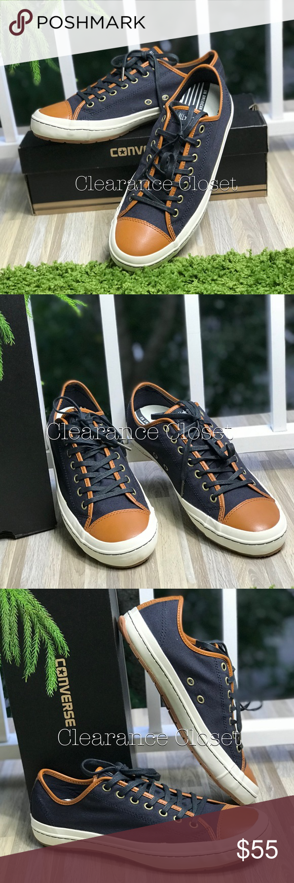 6ee24d2abae9 NWT Converse CT Premiere Ox Dark Navy M AUTHENTIC Brand new with box. Price  is firm! No trades. Upper  Textile Leather. Lining  Textile. Outsole   Rubber.
