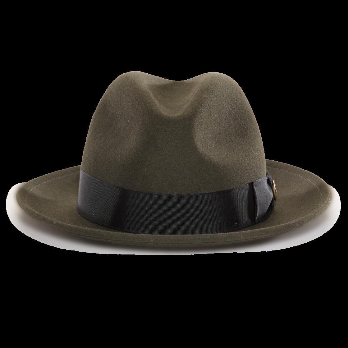 ec17fc6bdd7 Dean The Butcher Whiskeyfelt Wide Brim Fedora hat front view