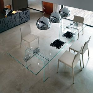 Mesa moderna / de cristal / extensible - AZIMUT by Studio ...