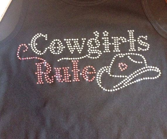 Hey, I found this really awesome Etsy listing at https://www.etsy.com/listing/195692296/cowgirls-rule