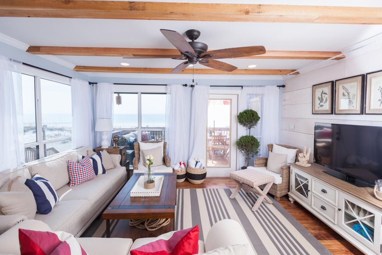 Tour The Beach House Renovation From HGTVs Flip Living Room