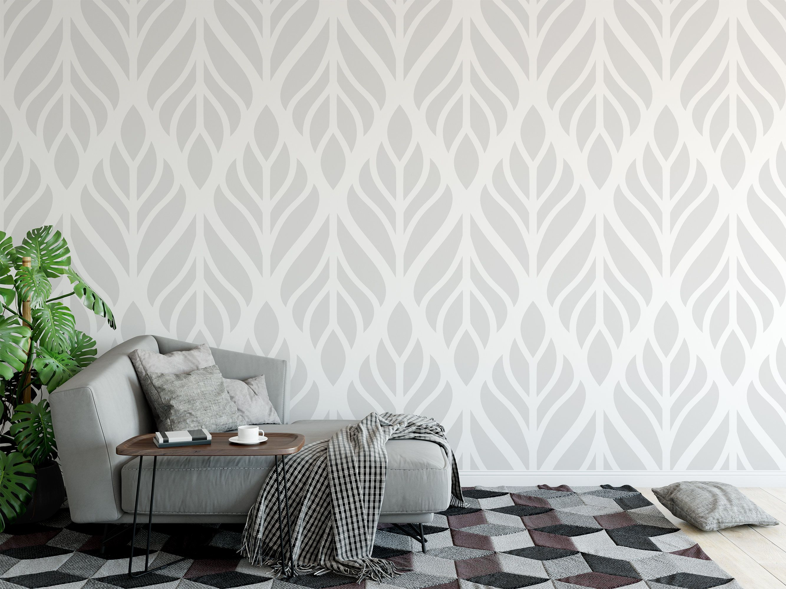 Removable Peel And Stick Wallpaper Modern Elegant Floral Etsy Peel And Stick Wallpaper Living Room Designs Removable Wallpaper