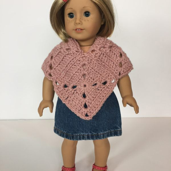 Meadow Doll poncho crochet pattern by Little Monkeys Design | Bordes ...