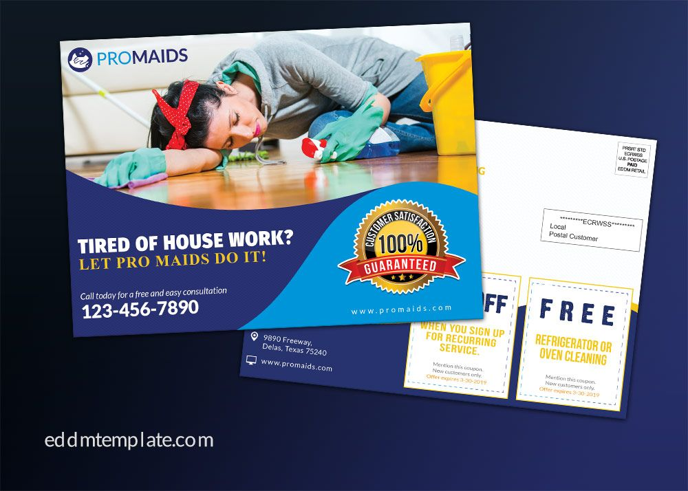 every door direct mail eddm template for cleaning service business