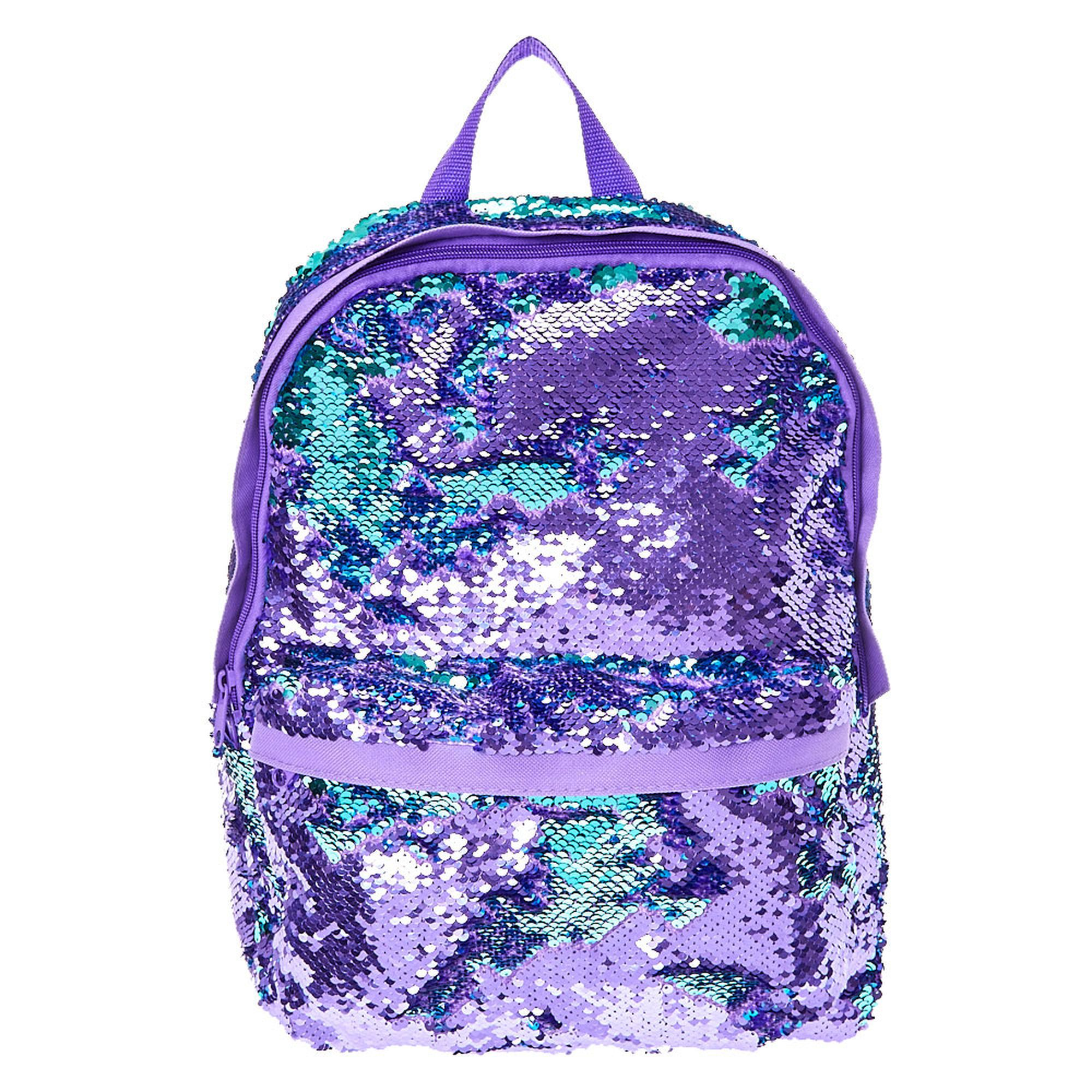 a330734481ef Reversible Purple To Turquoise Sequin Backpack
