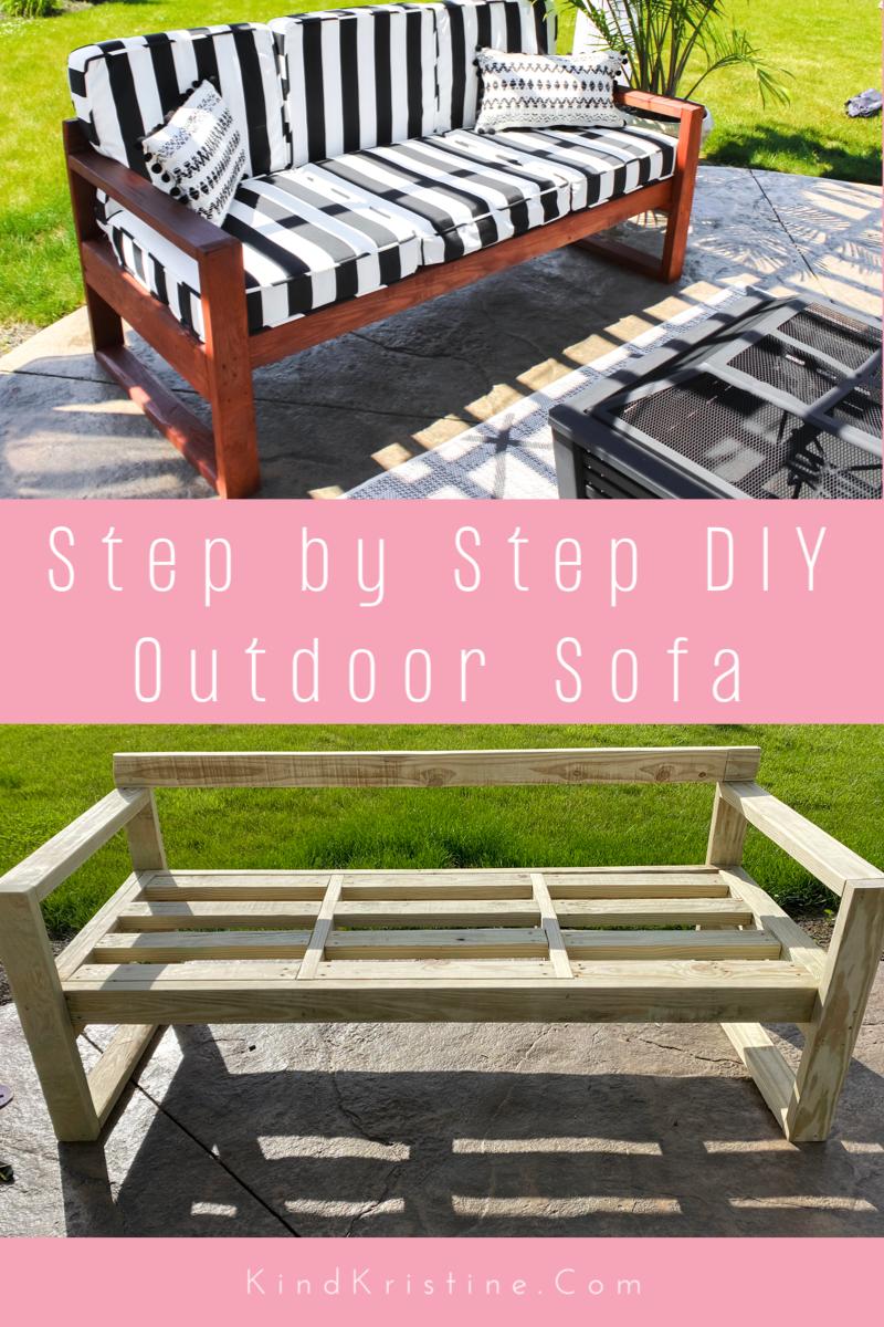 DIY Modern Outdoor Sofa : Kind Kristine: Home decor Design Decorating