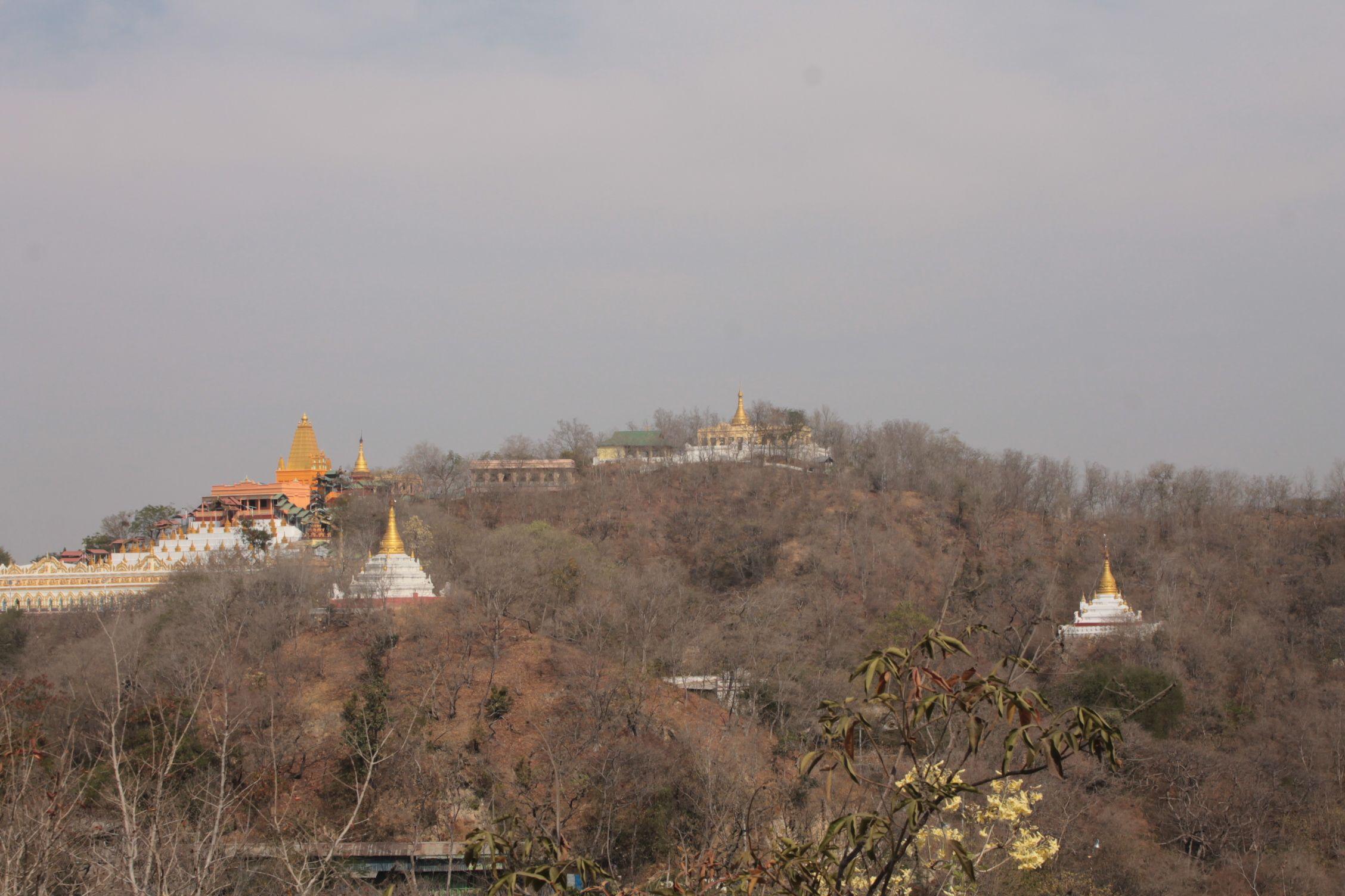 La colina de Sagaing: está claro que no es la mejor época