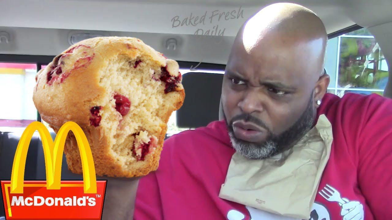 Mcdonalds mccafe cranberry and pumpkin muffins food
