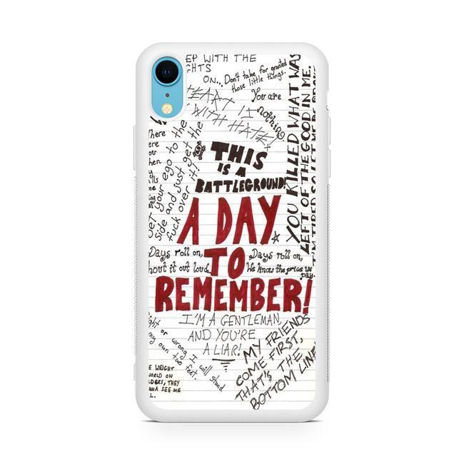 a day to remember Lyrics 1 iPhone XR Case di 2019